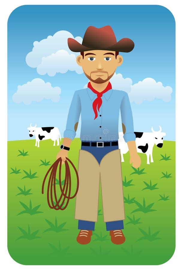 cowboy illustrazione vettoriale