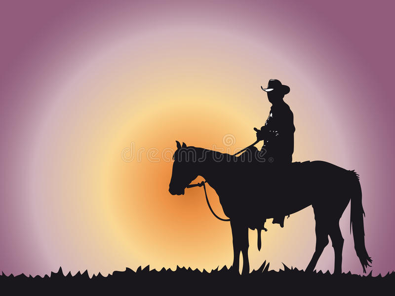 Cowboy ilustração do vetor