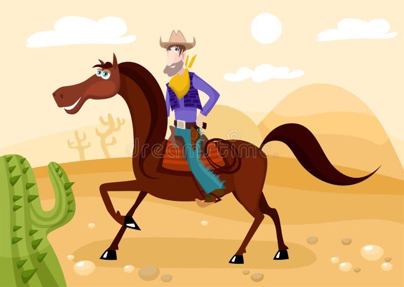 Cowboy illustration libre de droits