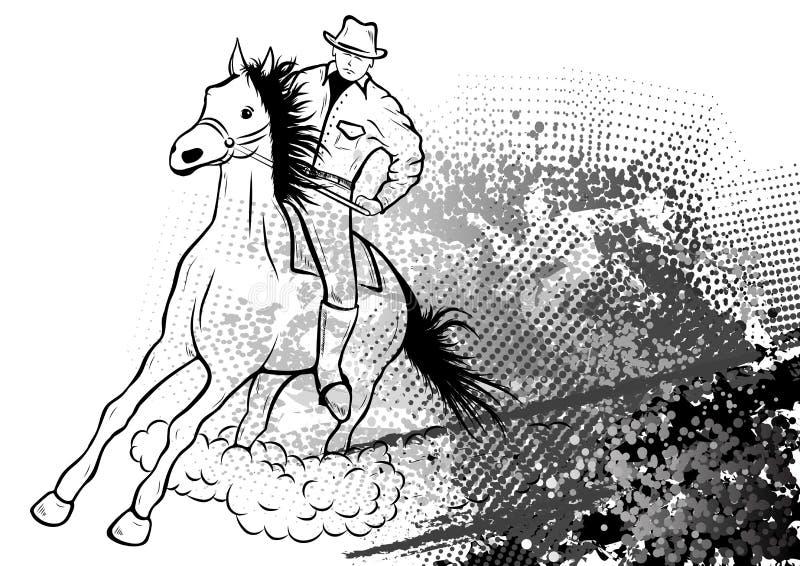 Cowboy ilustração stock