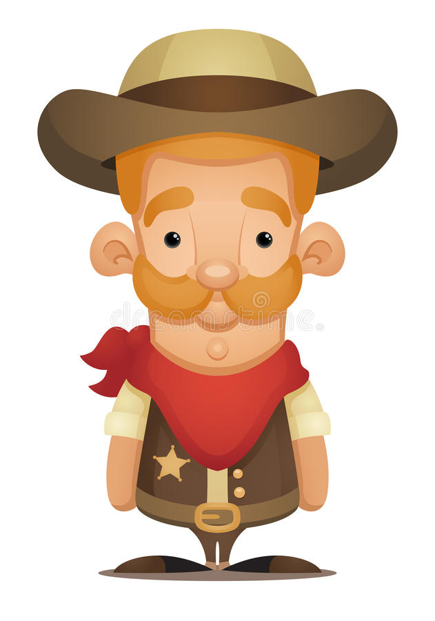 Cowboy vector illustratie