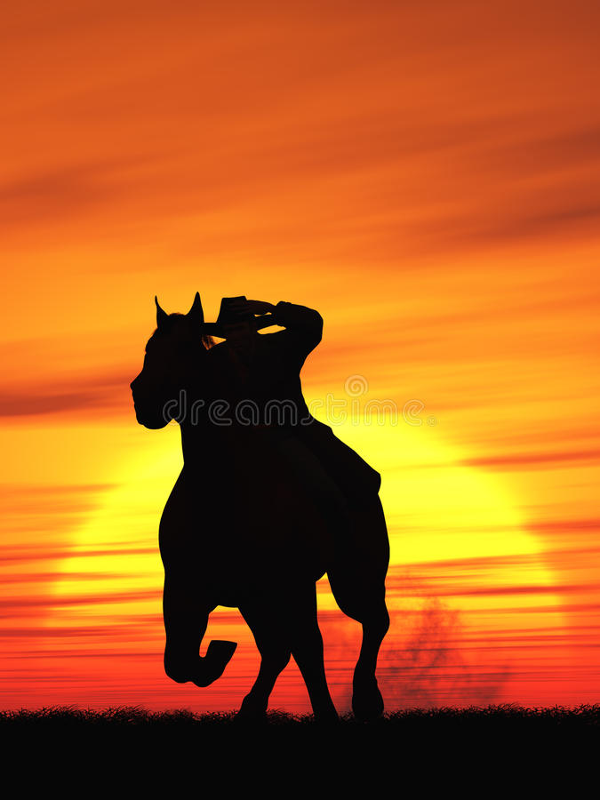 Download Cowboy stock illustration. Image of rider, beauty, riding - 27722180