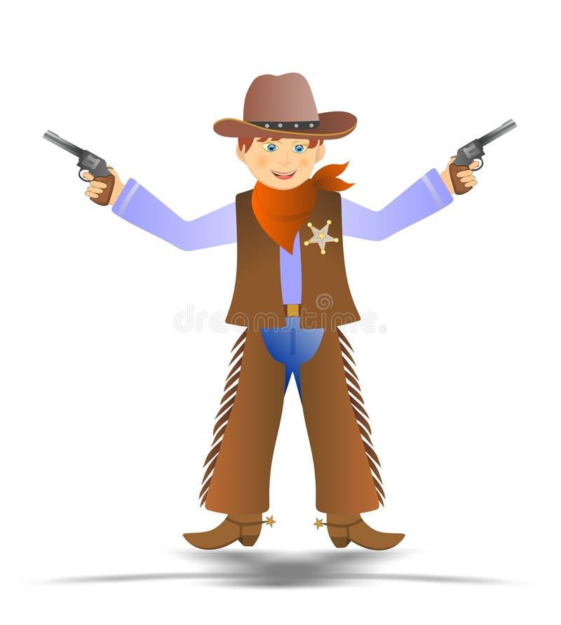 Cowboy illustration stock