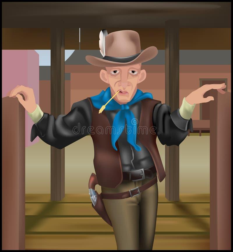 Download Cowboy illustration de vecteur. Illustration du maille - 733823
