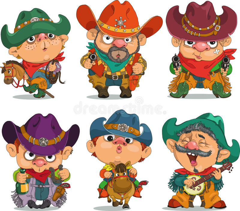 cowboy royalty illustrazione gratis