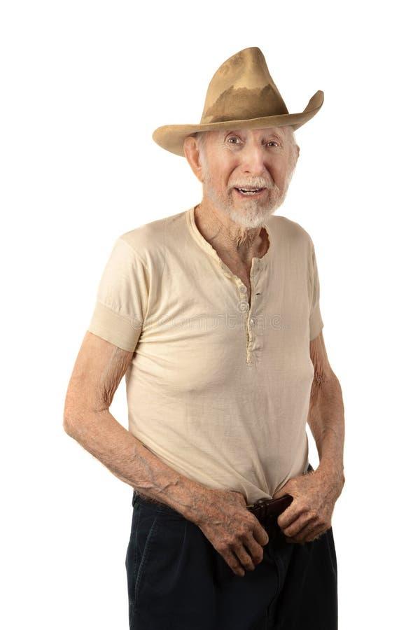 Cowboy aîné sale photos libres de droits