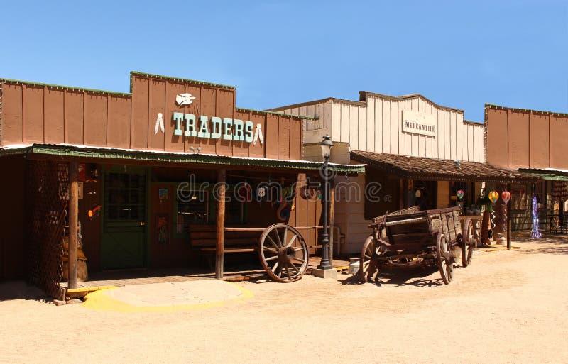 Cowboy ad ovest anziano Town immagini stock