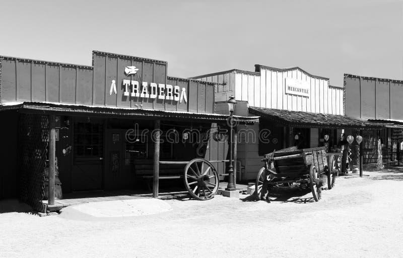 Cowboy ad ovest anziano Town fotografia stock libera da diritti