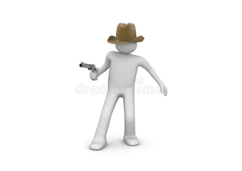 Download Cowboy Aiming stock illustration. Image of male, gunman - 12999373