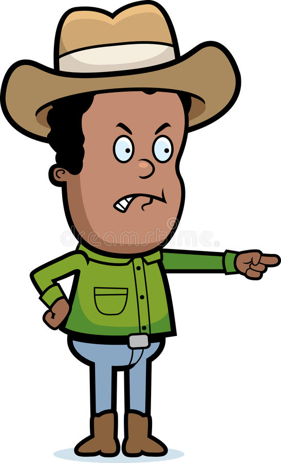 Cowboy Angry royalty free illustration