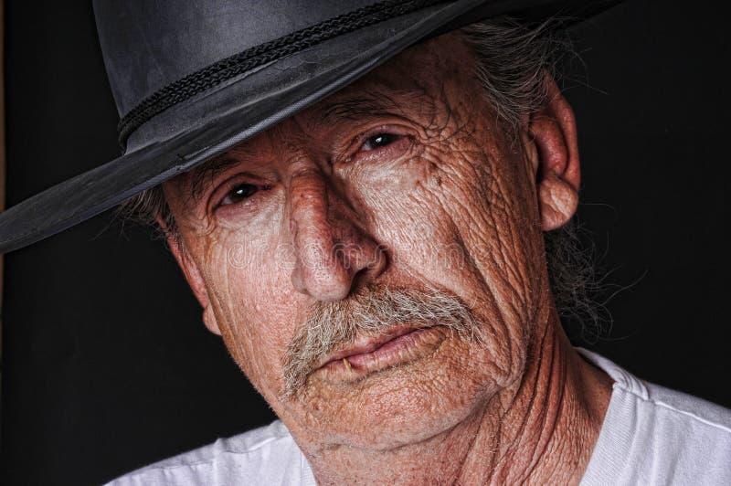Cowboy anziano immagine stock