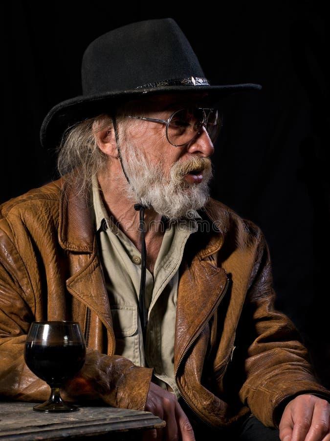 Cowboy anziano fotografia stock libera da diritti