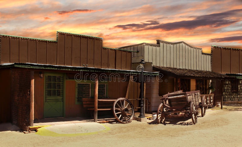 Cowboy anziano Town fotografia stock libera da diritti
