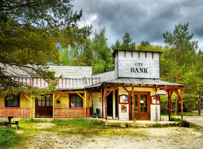 Cowboy anziano Town Saloon, America di selvaggi West immagini stock