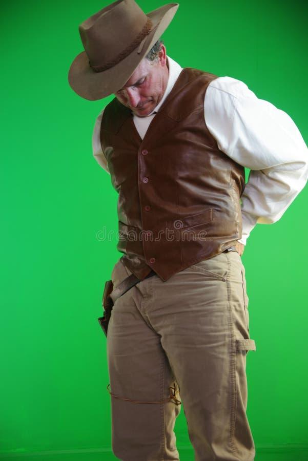 Cowboy avec le revolver photographie stock