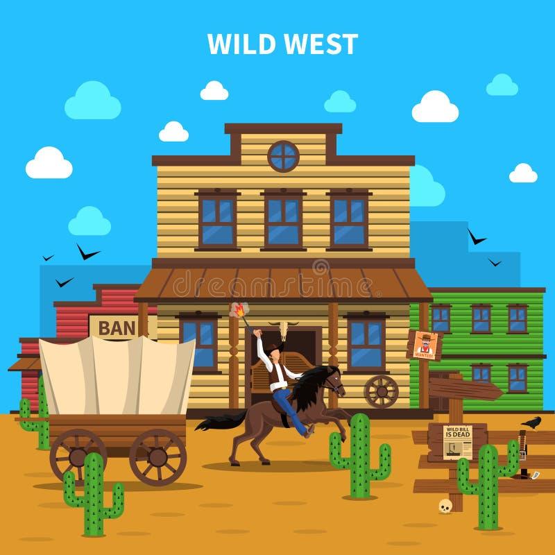 Cowboy Background Illustration illustrazione di stock