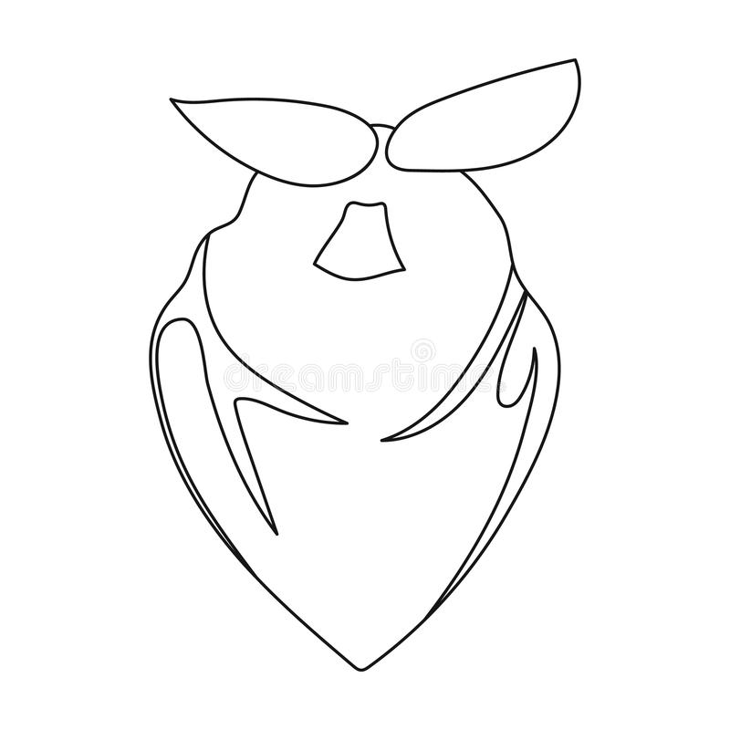Download Cowboy Bandana Icon In Outline Style Isolated On White Background Rodeo Symbol Stock