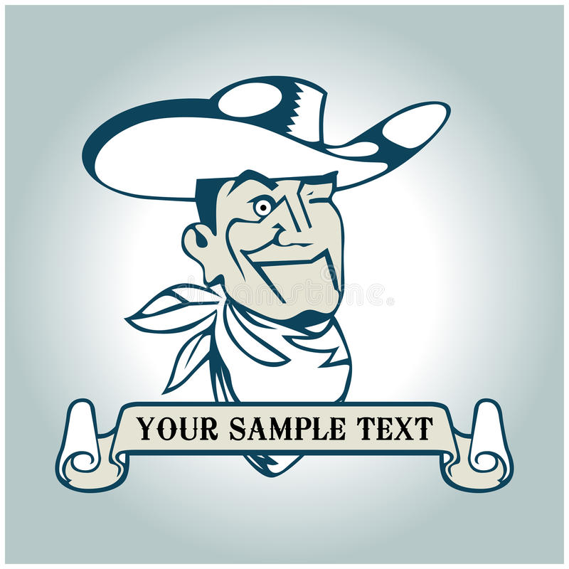 Cowboy banner vector illustration