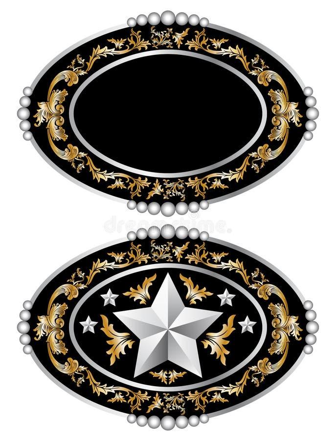 Cowboy belt buckle design I vector vector illustration