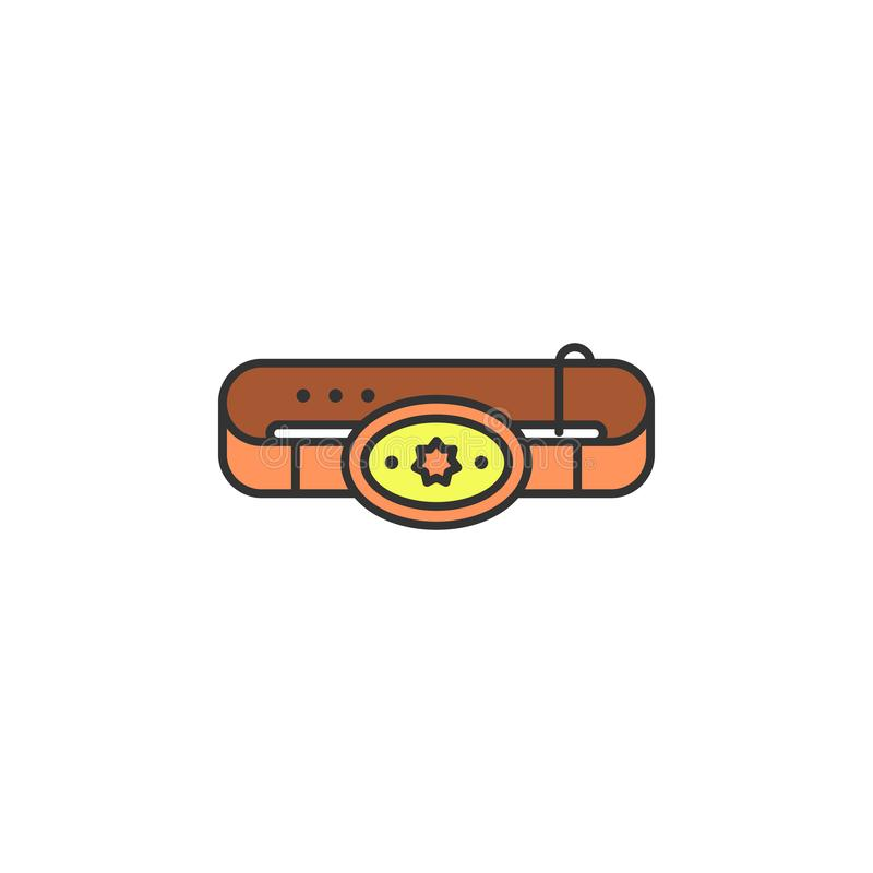 cowboy belt colored icon. Element of wild west icon for mobile concept and web apps. Cartoon cowboy belt icon can be used for web vector illustration