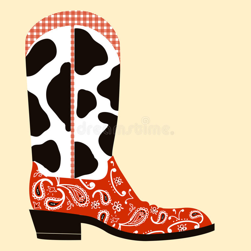 Cowboy Boot DecorationWestern Symbol Stock Photography Image