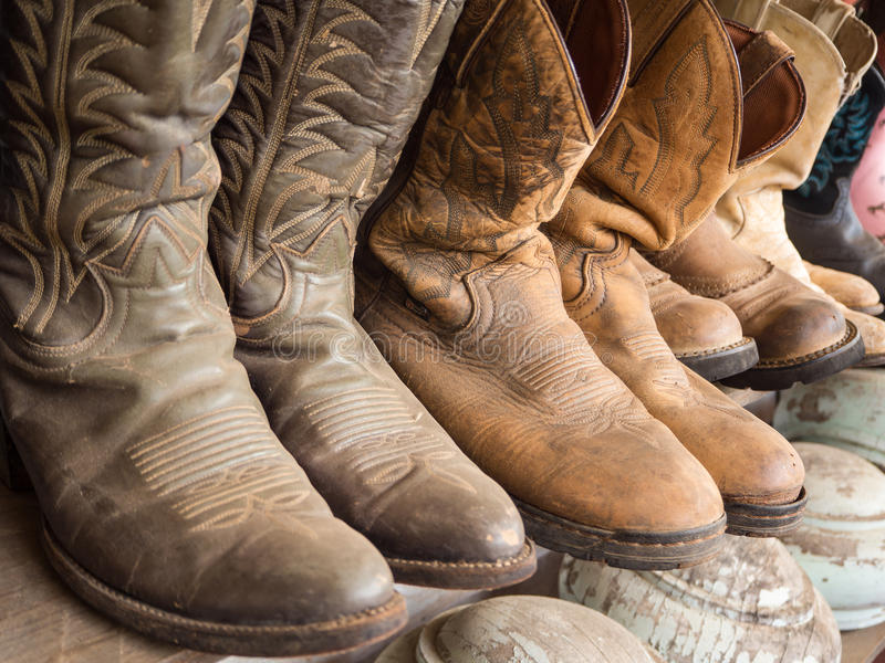 Cowboy boot stock image
