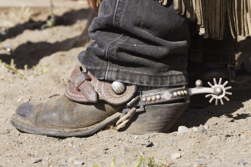 Cowboy Boot & Spur stock photo