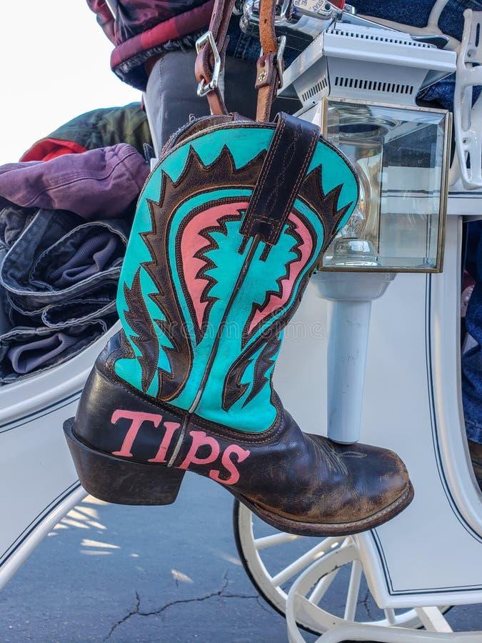 Cowboy Boot for Tips stock photos