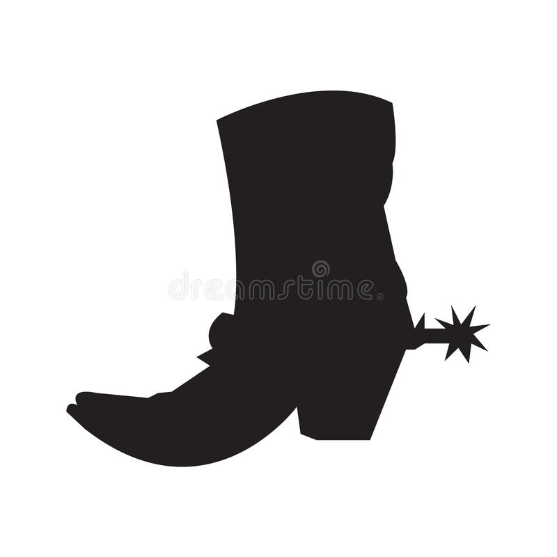 Free Cowboy Boot With Spur Silhouette Royalty Free Stock Image - 123748416