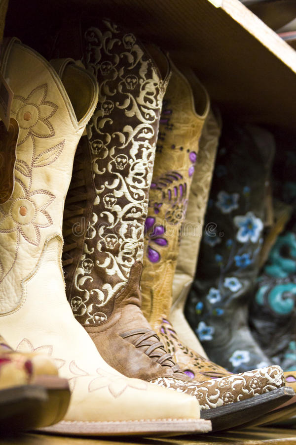 Cowboy boots stock photos
