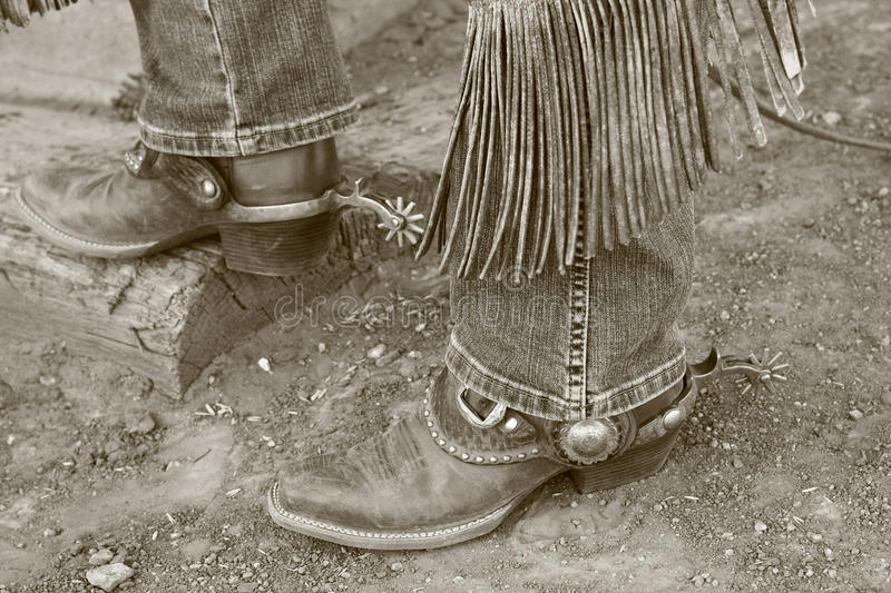 Download Cowboy boots & spurs stock image. Image of boots, daylight - 10228115