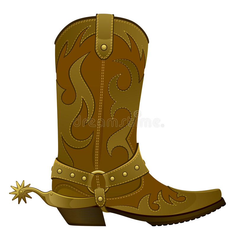 Cowboy boots royalty free illustration