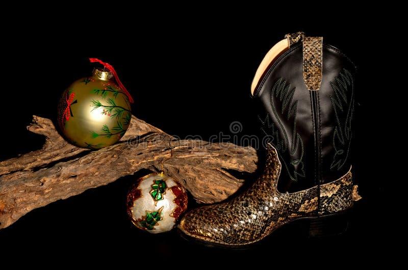 Cowboy Christmas stockbild
