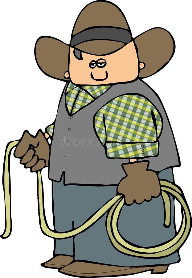 Cowboy com um Lariat ilustração do vetor