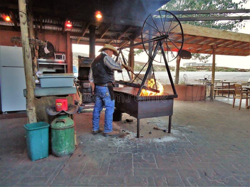 Cowboy Cook på den Swingin `-biffen arkivfoton
