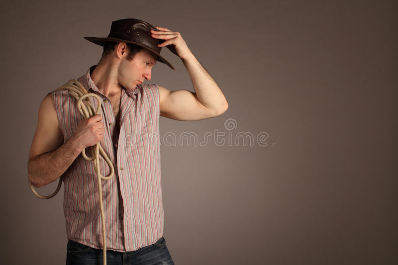 Download Cowboy (with copyspace) stock photo. Image of portrait - 20669722