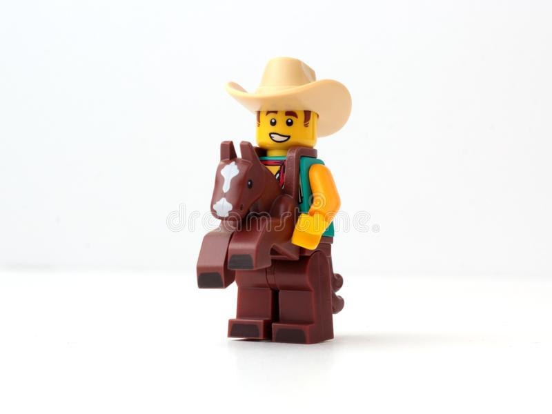 Cowboy Costume Guy LEGO royaltyfria foton