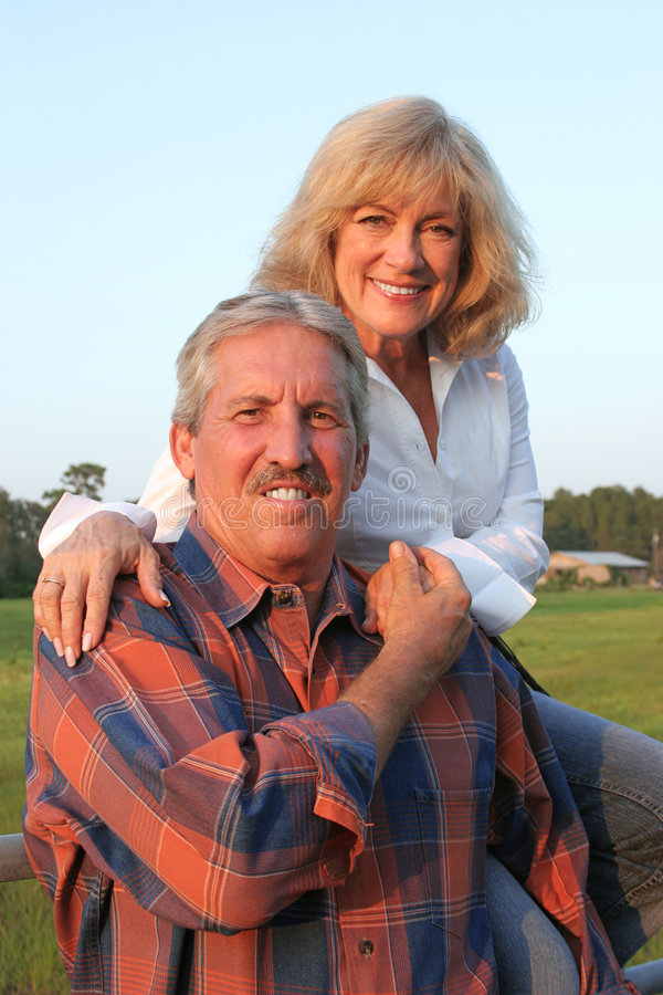 Cowboy Couple royalty free stock images