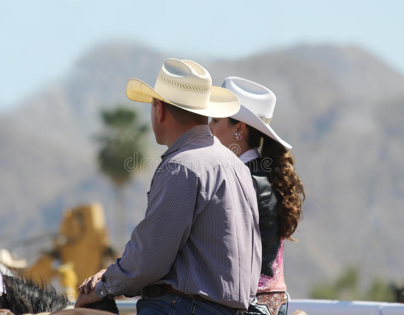Cowboy and Cowgirl royalty free stock photo