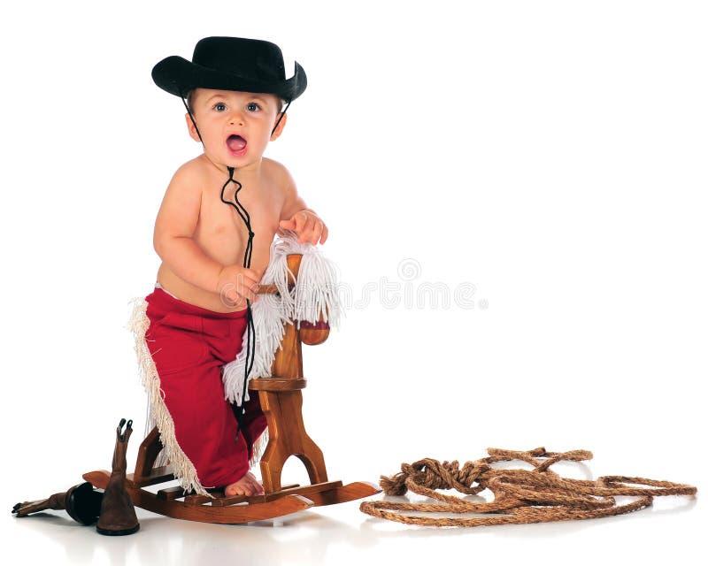 Cowboy d'Em de conduite images libres de droits