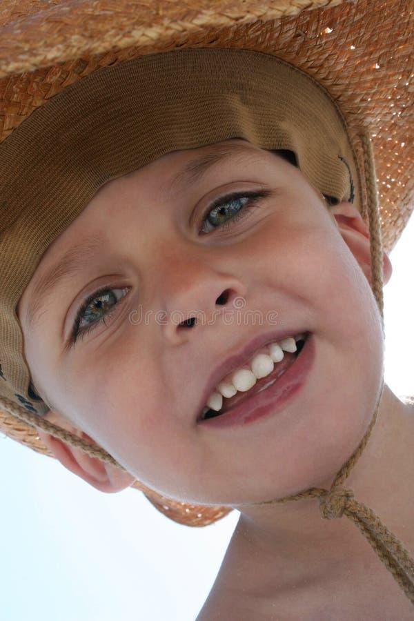 Cowboy da criança foto de stock