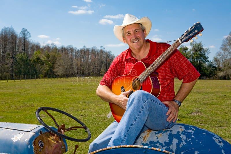 Cowboy de canto com Copyspace fotos de stock
