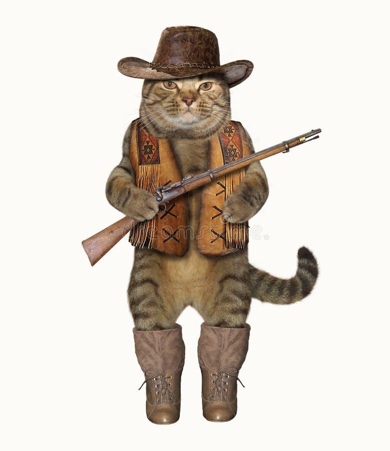 Cowboy 1 de chat illustration stock
