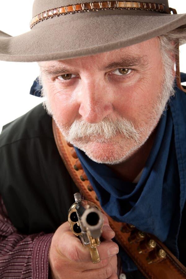 Cowboy de regard mesquin image stock