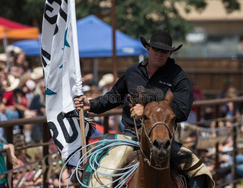 Cowboy de rodéo image stock