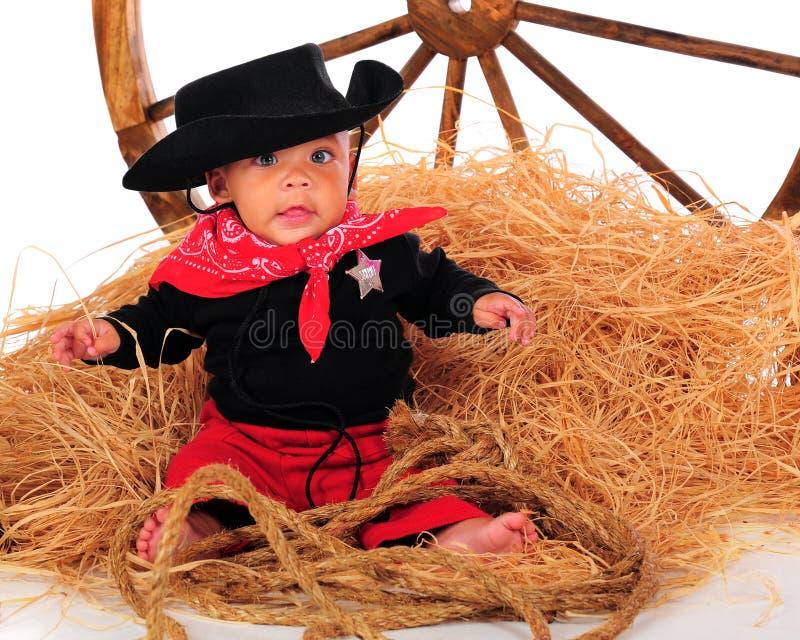 Cowboy de roue de chariot photos libres de droits