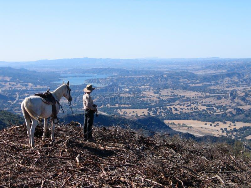 Cowboy de Santa Barbara photo stock