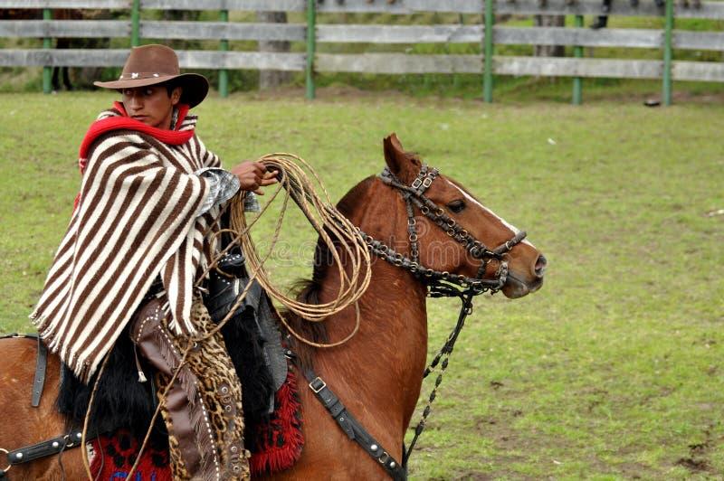 Cowboy del rodeo del latino fotografia stock libera da diritti