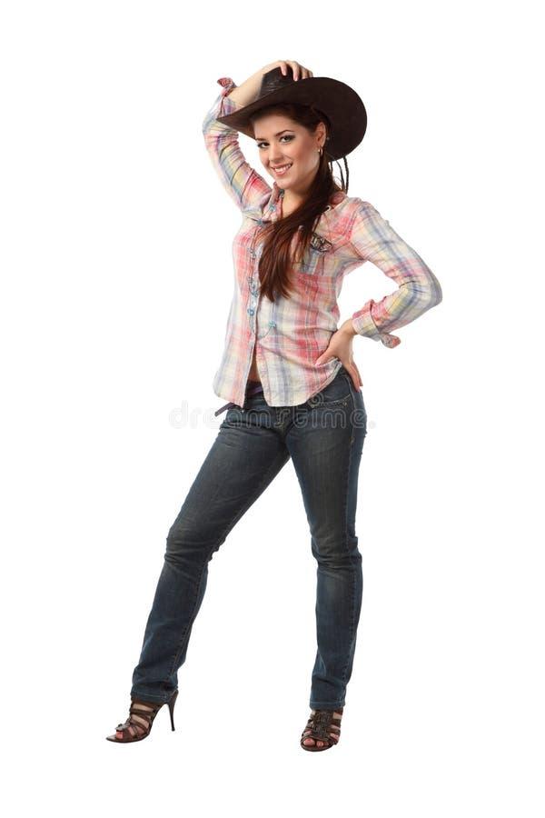 Cowboy della ragazza fotografia stock libera da diritti