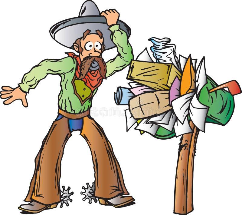 Cowboy, der Post erhält lizenzfreie abbildung